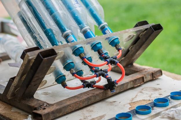Foguete de garrafa de água para usado para estudar ciência.