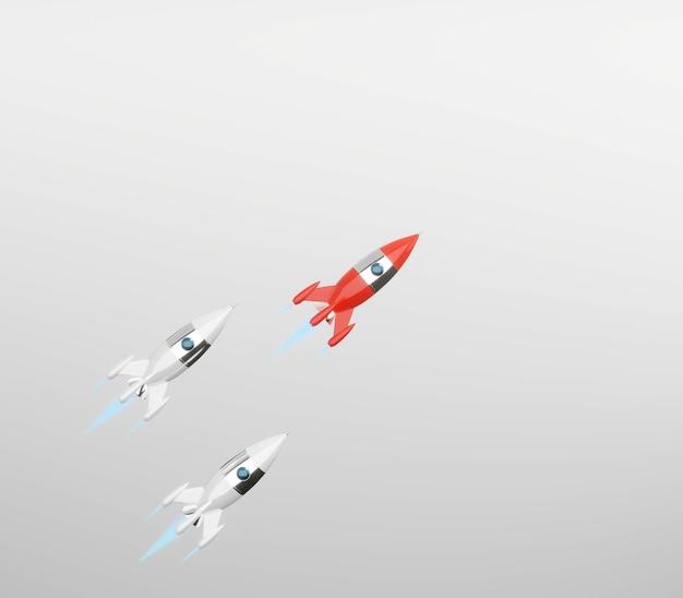 Foguete espacial vermelho