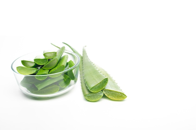 Folha de aloe vera, conceito de alimentação saudável
