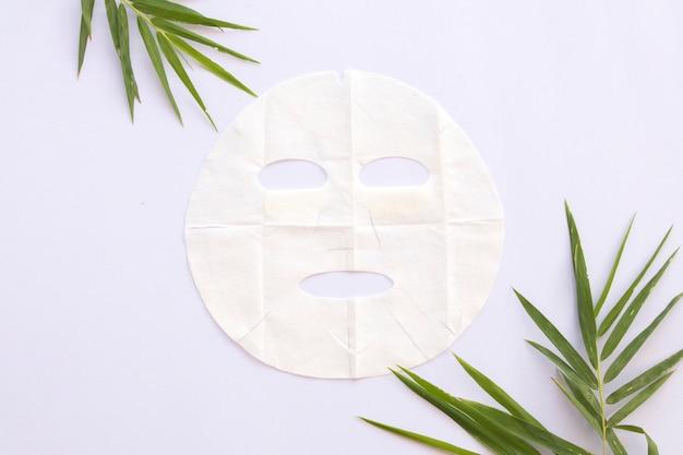 Folha de aroma natural extrato de máscara de bambu