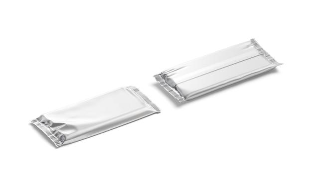 Folha de chocolate prata em branco embrulhar maquete de embalagem de chocolate de cacau vazio