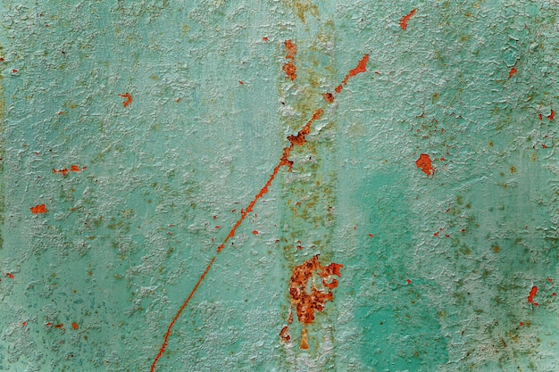 Folha de ferro enferrujada azul. fechar-se. fundo.