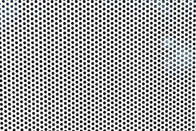 Folha de metal de fundo com orifícios circulares
