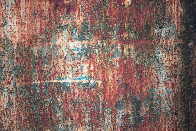 Folha de metal enferrujada colorida