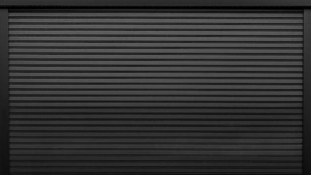 Folha de metal ondulada, porta corrediça branca, textura de persiana