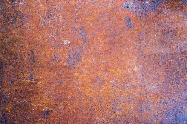 Folha de metal velha enferrujada de aço, resumo de plano de fundo texturizado