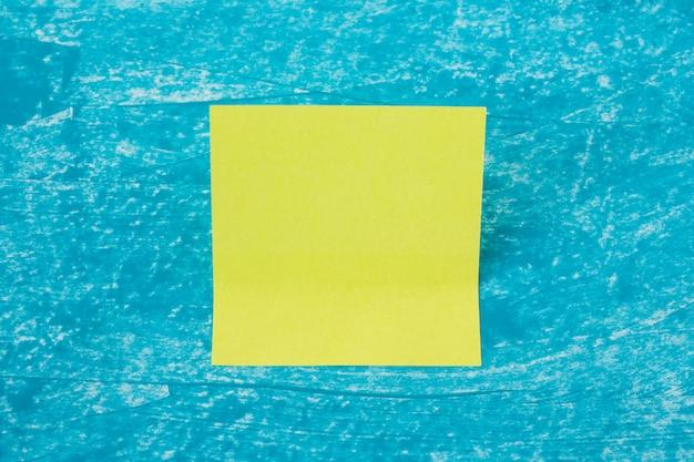 Folha de nota de pau único memorando em azul