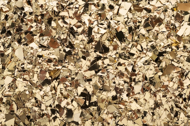 Folha de ouro confete textura glitter fundo.