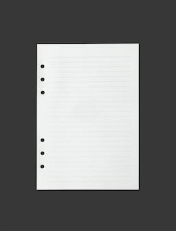 Folha de papel branca textura para o fundo com o traçado de recorte.