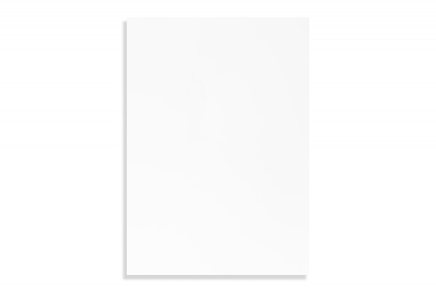 Folha de papel branca