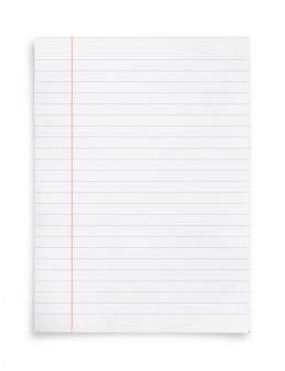Folha de papel branco.