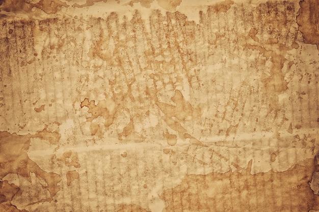 Folha de papel de fundo de textura de papel queimado marrom velho, texturas de papel são perfeitas para o seu cenário de papel criativo.