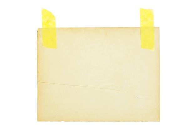 Folha de papel envelhecida