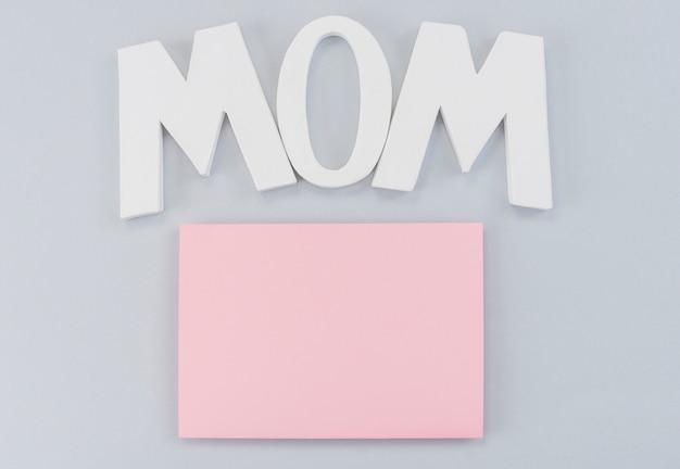 Folha de papel letras mãe