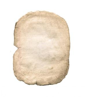 Folha de papel velha isolada no branco.