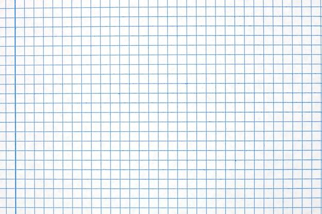 Folha de um close de caderno com grade azul