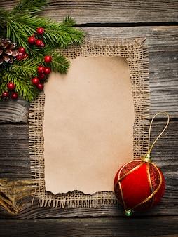 Folha em branco para cumprimentos de ano novo