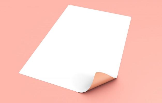Folha na maquete do chão rosa