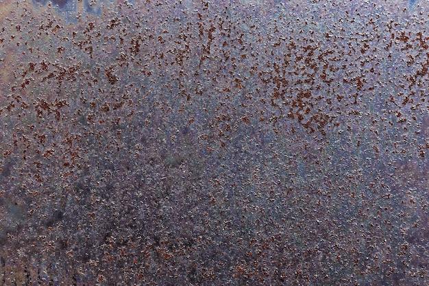 Folha velha enferrujada de metal, textura rústica