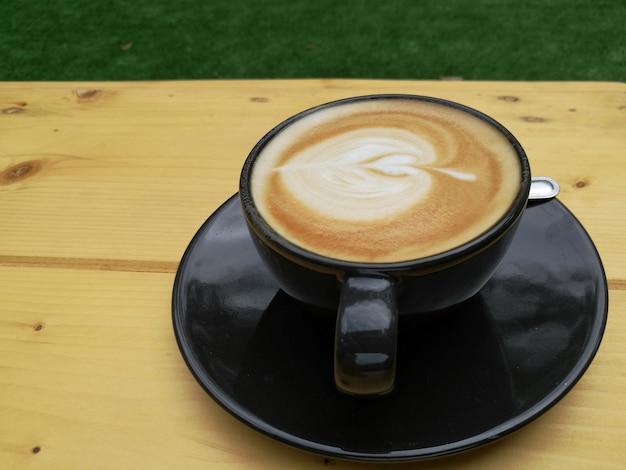 Folhas de café cappuccino