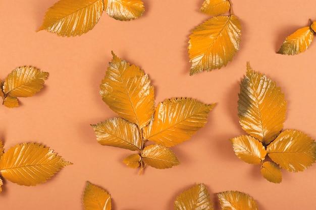Folhas de outono amarelas