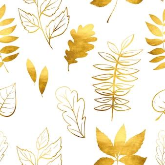 Folhas de outono em aquarela