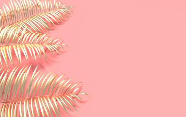 Folhas de palmeira tropical. folha tropical de verão.