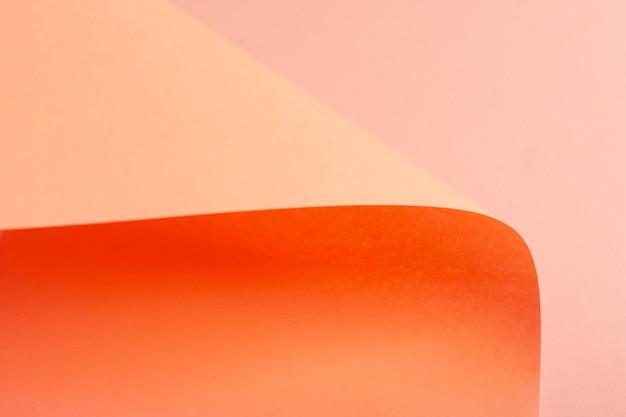 Folhas de papelão gradiente laranja