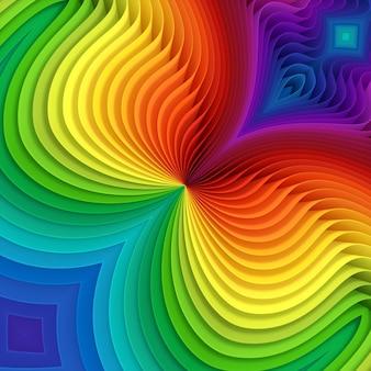 Folhas de plástico coloridas de cores diferentes, padrão de papel arco-íris