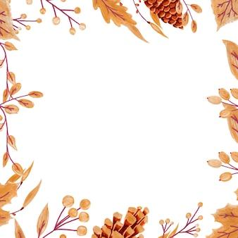 Folhas e bagas de outono douradas