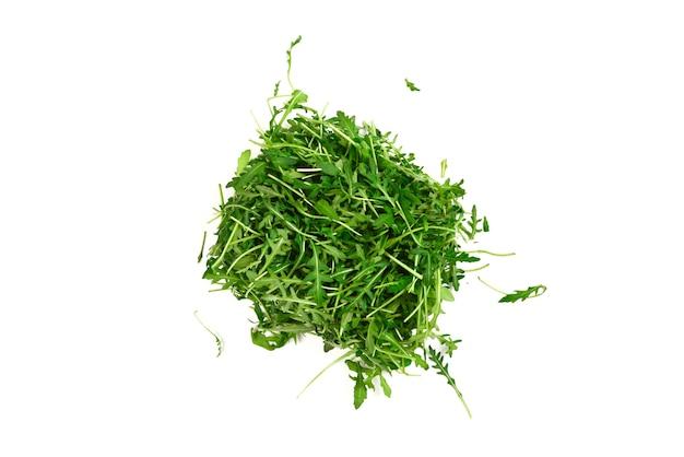 Folhas frescas de rúcula como superfície