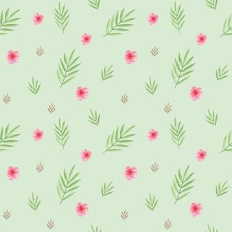 Folhas verdes, papel digital, folhas de palmeira, padrão sem emenda, padrão têxtil