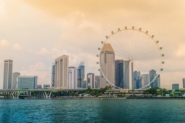 Folheto de singapore uma experiência em movimento a cada vez