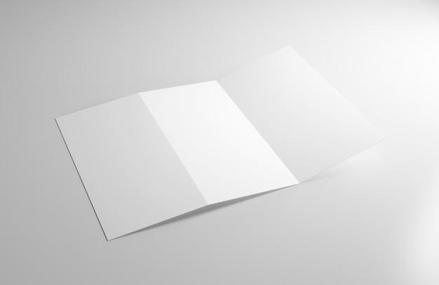 Folheto dobrável em três partes - rendição 3d