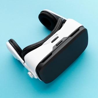 Fone de ouvido de realidade virtual de vista superior