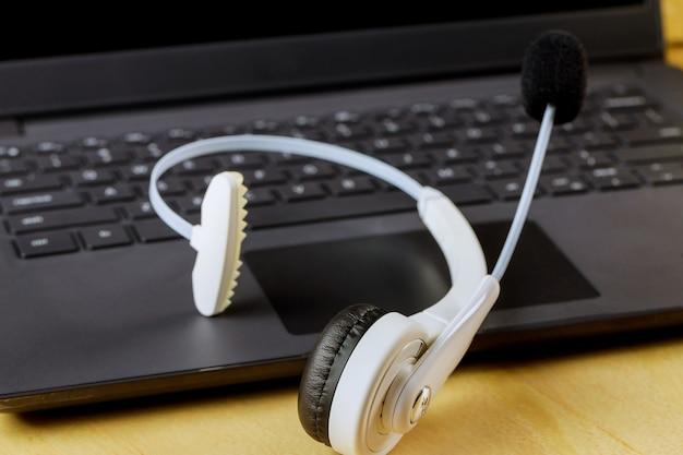 Fone de ouvido voip com fones de ouvido sem microfone para call center