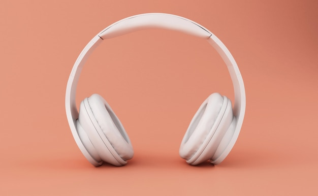 Fones de ouvido 3d brancos