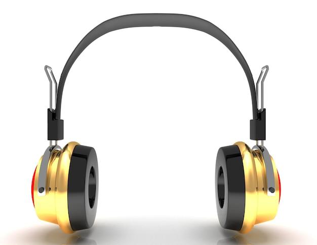 Fones de ouvido 3d. ícone. isolado em fundo branco