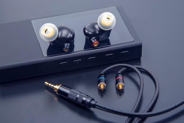 Fones de ouvido intra-auriculares para reprodutor de música hi-fi