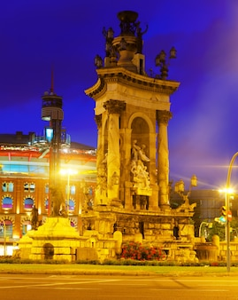 Fontain on spain square em barcelona