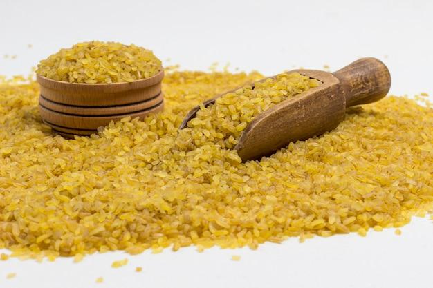 Fonte de bulgur de proteína natural Foto Premium