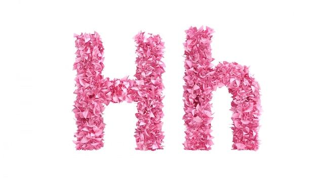 Fonte de flores cor de rosa. renderização em 3d.