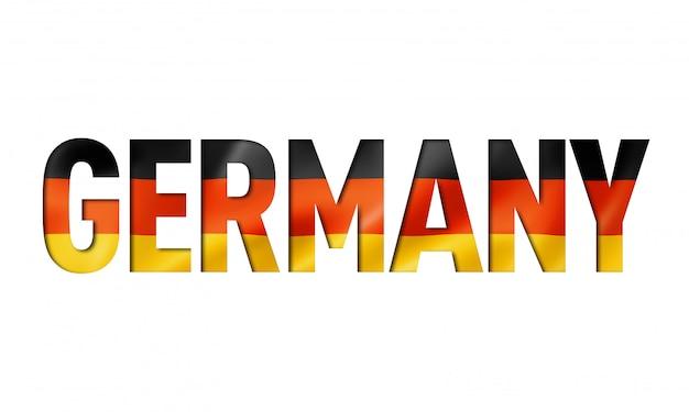 Fonte de texto de bandeira alemã
