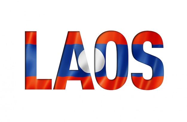 Fonte de texto de bandeira do laos