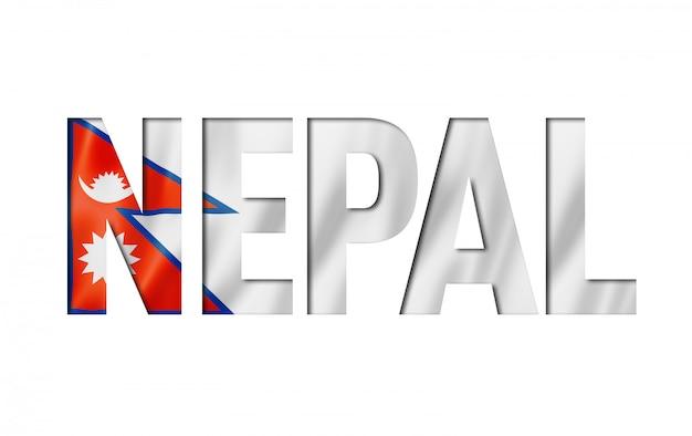 Fonte de texto de bandeira do nepal