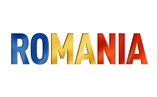 Fonte de texto de bandeira romena