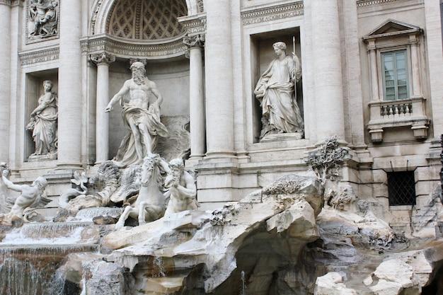 Fonte de trevi, em roma, itália