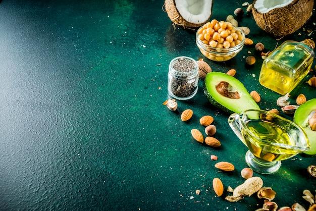 Fontes de gordura vegan saudáveis
