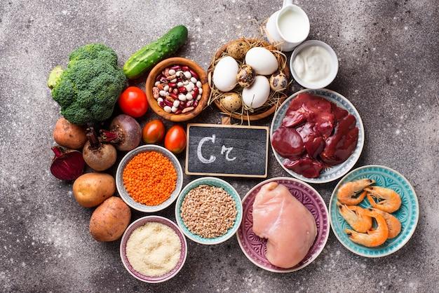 Fontes de produtos naturais de cromo