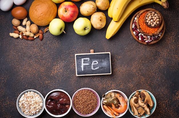 Fontes de produtos saudáveis de ferro